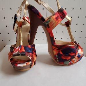 Multi Colored Heels